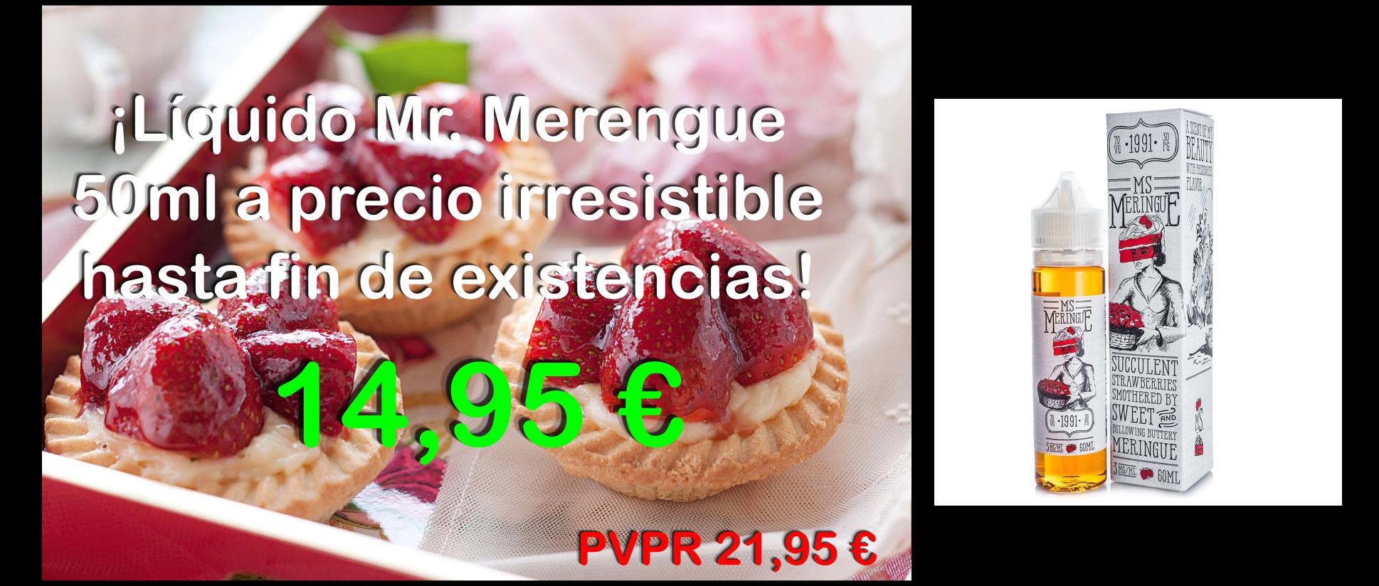 ¡Líquido Mr. Merengue 50ml a precio irresistible hasta fin de existencias!